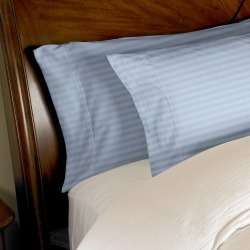 400 Thread Count 2pc Egyptian Cotton Pillowcase Set Standard Striped Light Blue found on Bargain Bro India from eluxury supply for $27.99