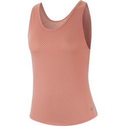 Women's Nike Miler Breathe Tank - Color: Pink Quartz/Reflective - Size: L