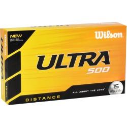 Wilson Ultra 500 Distance Golf Balls LOGO ONLY White