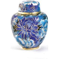 Floral Blue Cremation Keepsake