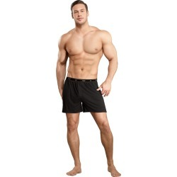 Male Power Bamboo Boxer Black Small