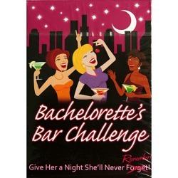 Bachelorette Bar Challenge Card Game