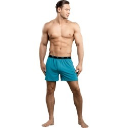Male Power Bamboo Boxer Teal Large