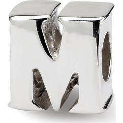 Sterling Silver Reflection Beads Letter M Bead
