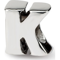 Sterling Silver Reflection Beads Letter K Bead