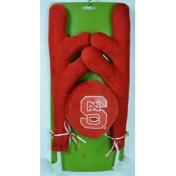 NC State 16.5 Fabric and Plastic Car Antler Set