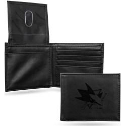 San Jose Sharks Laser Engraved Black Billfold Wallet found on Bargain Bro India from balfour for $24.99