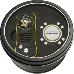 Tin Gift Set with Switchfix Divot Tool and Golf Chip Pittsburgh Penguins found on Bargain Bro Philippines from balfour for $31.25