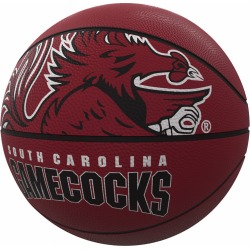 South Carolina Mascot Official-Size Rubber Basketball