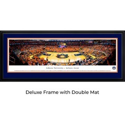 Auburn Tigers Basketball - Double Mat- Deluxe Framed Panoramic Print