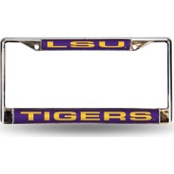 LSU Tigers Laser-Cut Chrome License Plate Frame found on Bargain Bro Philippines from balfour for $24.99