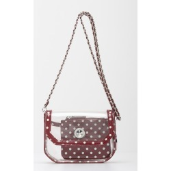 Clear Stadium Shoulder Bag Maroon & White Chrissy Small by SCORE! The Official Game Day Bag