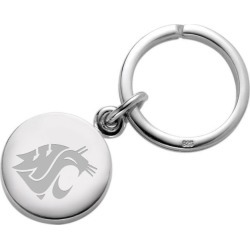 Washington State University Sterling Silver Insignia Key Ring by M.LaHart & Co.