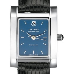 Columbia University Women's Blue Quad Watch with Leather Strap by M.LaHart & Co.