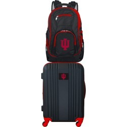 NCAA Indiana Hoosiers 2 Piece Set Luggage and Backpack by Mojo Licensing