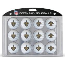 12 Pack Golf Balls New Orleans Saints