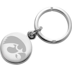 University of Iowa Sterling Silver Insignia Key Ring by M.LaHart & Co.