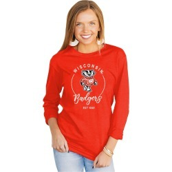 Wisconsin Badgers It's Gameday Y'all Varsity Crew Top by Gameday Couture found on Bargain Bro from balfour for USD $21.65
