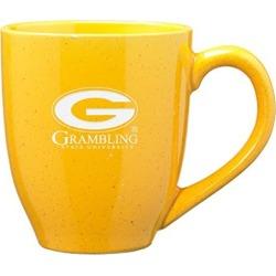 Grambling State University - 16-ounce Ceramic Coffee Mug - Gold