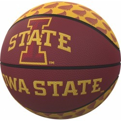 IA State Repeating Logo Mini-Size Rubber Basketball