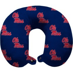 NCAA Relaxation Travel Pillow University Of Mississippi
