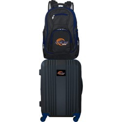 NCAA Pepperdine University Waves 2 Piece Set Luggage and Backpack by Mojo Licensing