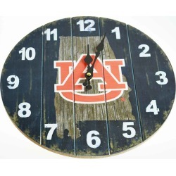 Auburn State Map 13.5 MDF Clock Oxbay by Seasons Designs