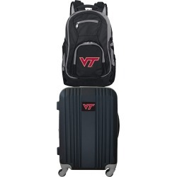 NCAA Virginia Tech Hokies 2 Piece Set Luggage and Backpack by Mojo Licensing