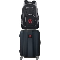 NCAA Boston College Eagles 2 Piece Set Luggage and Backpack by Mojo Licensing
