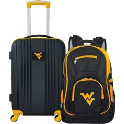 NCAA West Virginia Mountaineers 2 Piece Set Luggage and Backpack by Mojo Licensing