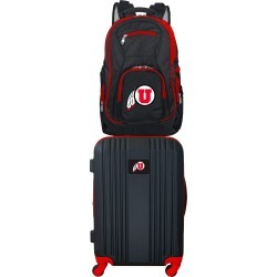 NCAA Utah Utes 2 Piece Set Luggage and Backpack by Mojo Licensing