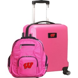 Wisconsin Badgers Deluxe 2-Piece Backpack and Carry on Set
