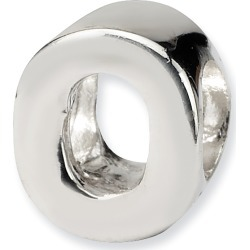 Sterling Silver Reflection Beads Letter O Bead