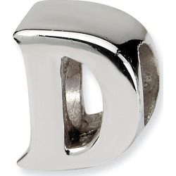 Sterling Silver Reflection Beads Letter D Bead