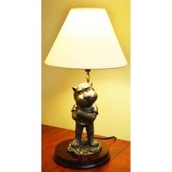 "Auburn 17"" Resin and Bronze Mascot Lamp Oxbay by Seasons Designs"