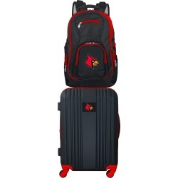 NCAA Louisville Cardinals 2 Piece Set Luggage and Backpack by Mojo Licensing