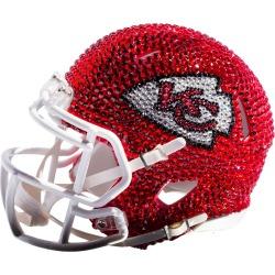Kansas City Chiefs Swarovski Crystal adorned Full Helmet by Rock On Sports
