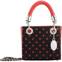 Ladies Red & Black Small Satchel Top Handle Purse - Jacqui by SCORE! The Official Game Day Bag