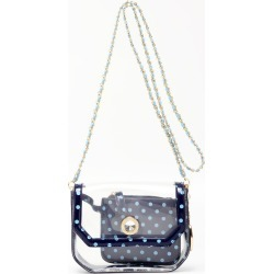 Clear Stadium Shoulder Bag Navy Blue & Light Blue Chrissy Small by SCORE! The Official Game Day Bag