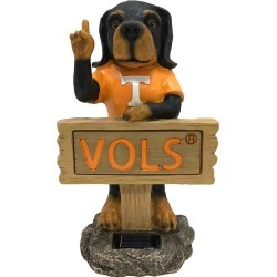 TENNESSEE VOLUNTEERS 7.8IN X 5.5IN X13.5IN SOLAR  RESIN STATUE  WITH SIGN found on Bargain Bro from balfour for USD $60.79