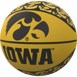Iowa Repeating Logo Mini-Size Rubber Basketball