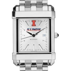 University of Illinois Men's Collegiate Watch w/ Bracelet by M.LaHart & Co.