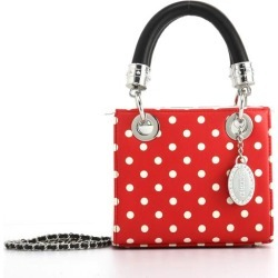 Ladies Red & White Small Satchel Top Handle Purse - Jacqui by SCORE! The Official Game Day Bag