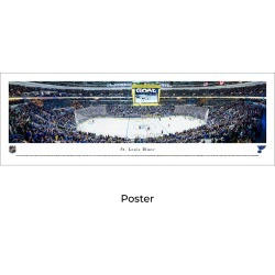 St. Louis Blues Hockey Football - Unframed Panoramic Poster