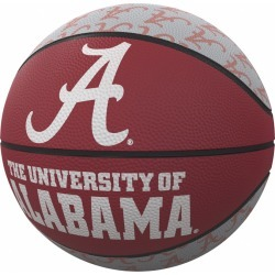 Alabama Repeating Logo Mini-Size Rubber Basketball