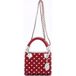 Ladies Maroon & Silver Small Satchel Top Handle Purse - Jacqui by SCORE! The Official Game Day Bag