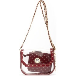 Clear Stadium Shoulder Bag Maroon & Gold Chrissy Small by SCORE! The Official Game Day Bag