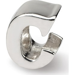 Sterling Silver Reflection Beads Letter C Bead