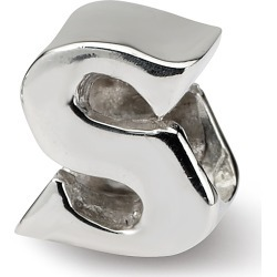 Sterling Silver Reflection Beads Letter S Bead