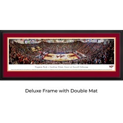 Virginia Tech Hokies Basketball - Double Mat- Deluxe Framed Panoramic Print